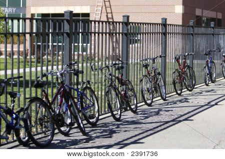 Bicycles At School