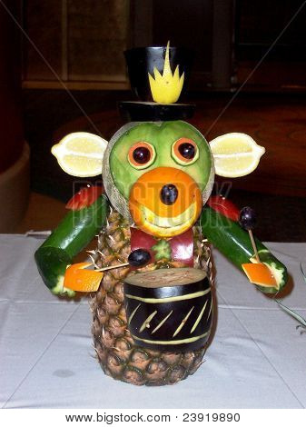 Monkey Fruit Showpiece