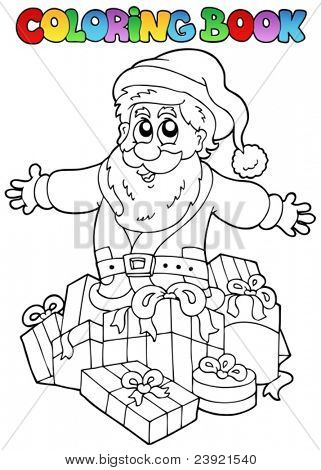 Coloring book Christmas topic 7 - vector illustration.