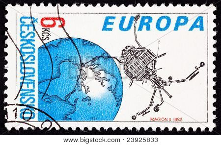 Postage Stamp Czechoslovakian Built Magion 2 Earth Magnetosphere Ionosphere Satellite