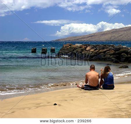 Sitting On The Beach In Kihei, Hawaii