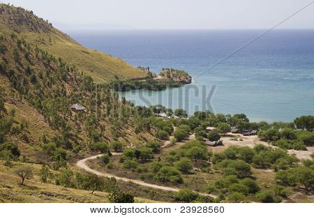 An Isolated Village In Timor Leste