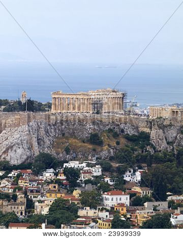 Parthenon Temple On Acropolis Athens Greece