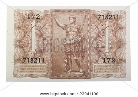 Vintage one italian lire