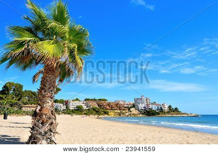 a view of the beach of Altafulla, Catalonia, Spain