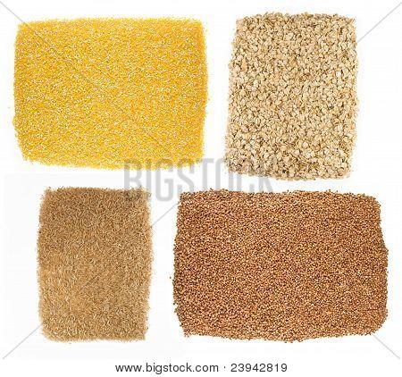 Oatmeal,buckwheat,millet,corn,rice