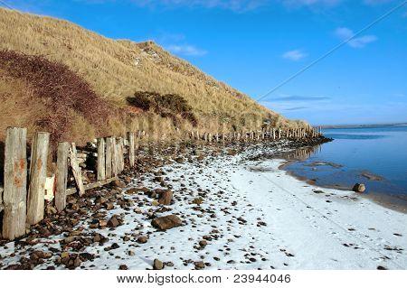 The Cashen Ballybunion In Frozen Landscape