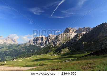 Saas Pordoi And Fassa Valley