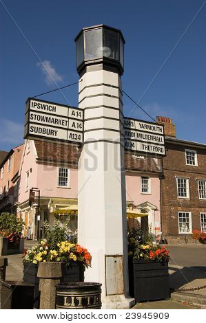 Historic Signpost, Bury St Edmunds