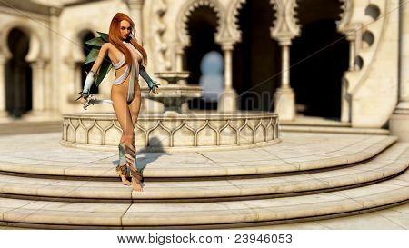 warrior girl with sword