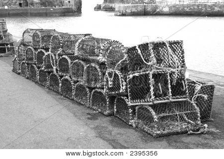Creels At Dockside