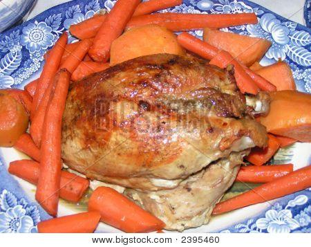 Turkey & Vegetables On A Plate