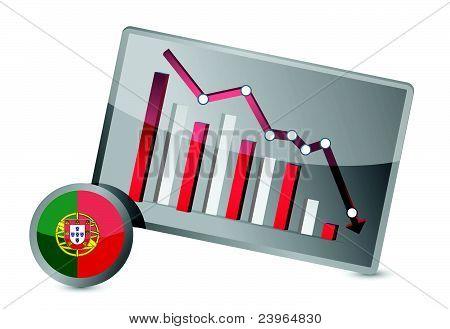 portugal suffering crisis graph design