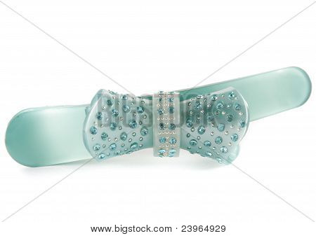 Green barrette