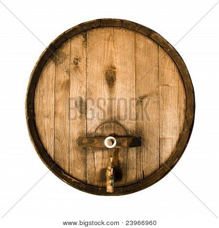 Old wooden barrel