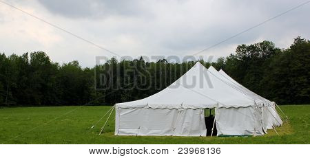 wedding tent in the field