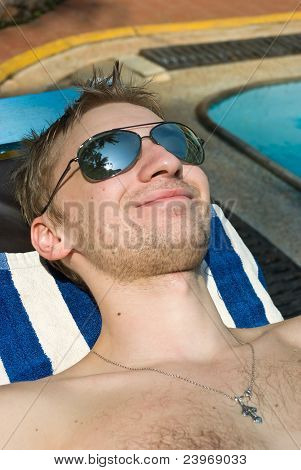 Sunbathing Man