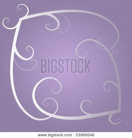 Swirls on the violet background