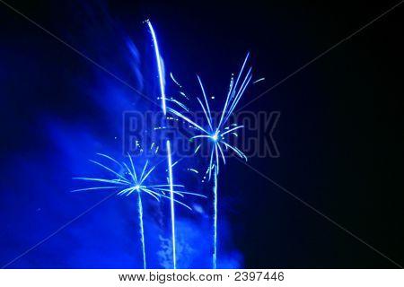 Blue  Firework