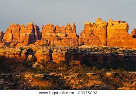 canyonland needles at sunrise