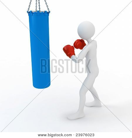 Boxer Boxing With Punching Bag