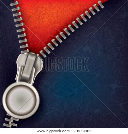 Abstract Background With Open Zipper