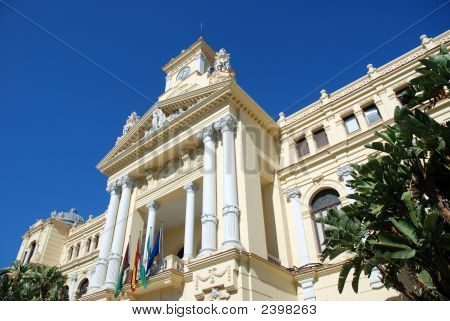 Town Hall In Malaga, Spain