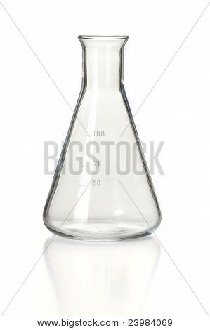 Empty Chemistry Erlenmeyer Flask