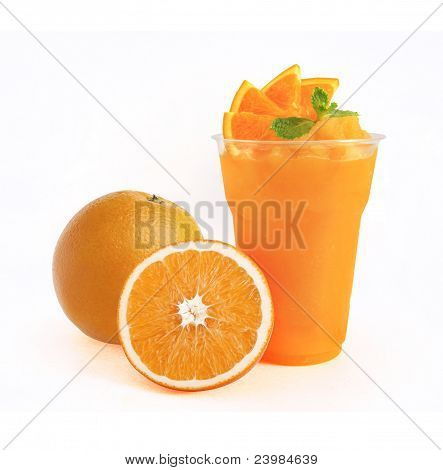 Orange Smoothie On White Background