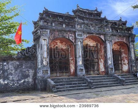 Dai Hong Mon Gate at Ming Mang Tomb - Hue, Vietnam