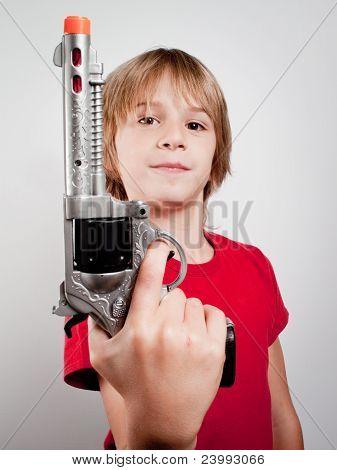 Boy With Gun Toy