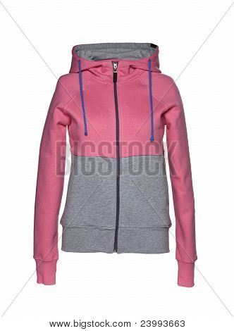 Hooded Sweater pink/gray