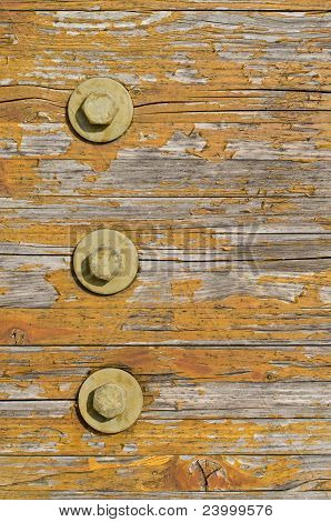 Wooden Texture With Bolts