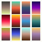 Trendy Gradient Swatches. Collection Palettes Of Gradient Swatches. Set Of Multicolored Gradients. V poster