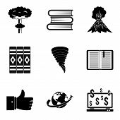 Literary Icons Set. Simple Set Of 9 Literary Vector Icons For Web Isolated On White Background poster