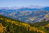 pic of rocky-mountains  - Peak color change in the Colorado Rocky Mountains near Denver Colorado - JPG