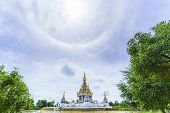 Magnificent Wat Thung Setthi (the Great Jewel Chedi Of The Three Worlds) With Amazing Sun Halo , Kho poster