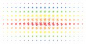Spiral Galaxy Icon Spectral Halftone Pattern. Vector Spiral Galaxy Symbols Are Arranged Into Halfton poster