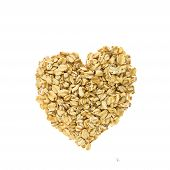 Heart of oatmeal