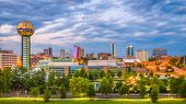 Knoxville, Tennessee, USA downtown skyline at twilight. poster
