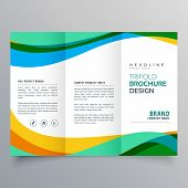 Creative Trifold Business Brochure Vector Design Template poster
