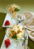 pic of pawpaw  - Delicious meringue dessert with pawpaw and passionfruit sauce with strawberries - JPG