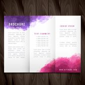 Creative Trifold Brochure Made With Colorful Ink poster