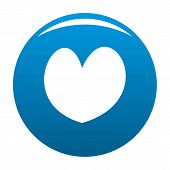 Reliable Heart Icon. Simple Illustration Of Reliable Heartvector Icon For Any Design Blue poster