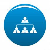 Leadership Icon. Simple Illustration Of Leadership Vector Icon For Any Design Blue poster