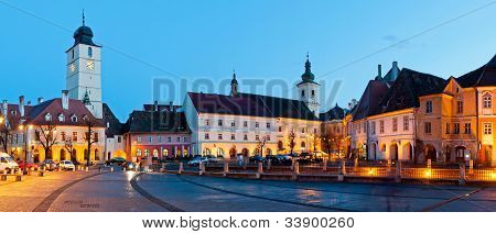 Sibiu City Center Panorama