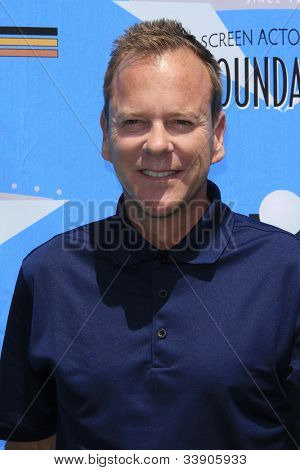 BURBANK - JUN 11: Kiefer Sutherland at the 3rd Annual SAG Foundation Golf Classic at the Lakeside Golf Club on June 11, 2012 in Burbank, California
