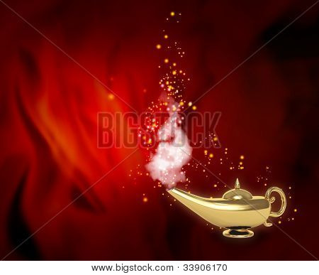 Symbol performance of desires - magic lamp