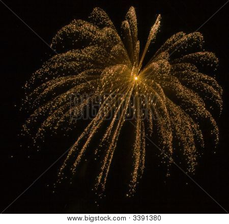 Golden Spark/Explosion With Dust Trails