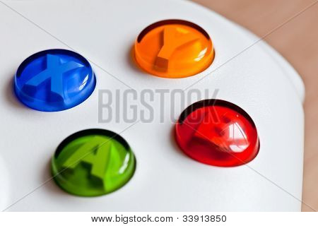 The Colorful Buttons On The Gaming Controller